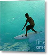 Surfer In The Zone Metal Print
