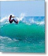 Surfer Making Turn Metal Print
