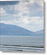 Surfer On The Beach, Inch Strand Metal Print
