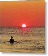 Surfer Sunrise 3 10/2 Metal Print