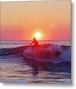Surfer Sunrise 6 10/2 Metal Print