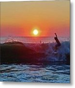 Surfer Sunrise 8 10/2 Metal Print