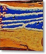 Surfer The Other White Meat Hand Painted By Mark Lemmon Metal Print