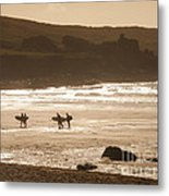 Surfers On Beach 02 Metal Print