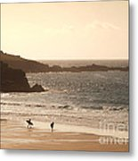 Surfers On Beach 03 Metal Print