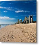 Surfers Paradise Beach By Day Metal Print