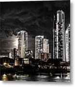 Surfers Paradise By Night Metal Print