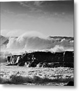 Surfers Surf Out There But Not Today Metal Print by Tony Reddington