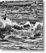 Surfin In The Usa V8 Metal Print