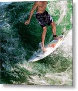 Surfin` Metal Print