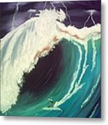 Surfing Dare Devil  Metal Print