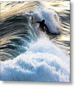 Surfing For Gold Metal Print