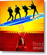 Surfing For Peace Metal Print