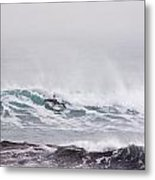 Surfing In The Snow Metal Print