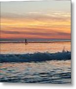 Surfing Into The Sunset Metal Print