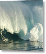 Surfing Jaws 1 Metal Print