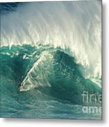 Surfing Jaws 2 Metal Print