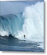 Surfing Jaws 4 Metal Print