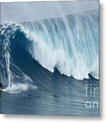 Surfing Jaws 5 Metal Print
