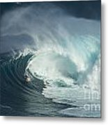 Surfing Jaws Fast And Furious Metal Print
