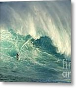 Surfing Jaws Hang Loose Brother Metal Print