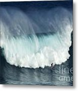 Surfing Jaws Running With Wolves Metal Print