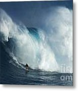 Surfing Jaws Surfing Giants Metal Print