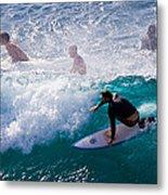 Surfing Maui Metal Print