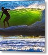 Surfing The Waves 2 Metal Print