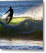 Surfing The Waves Metal Print