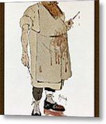 Surgeon: Caricature, 1906 Metal Print