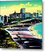Surreal Colors Of Miami Beach Florida Metal Print
