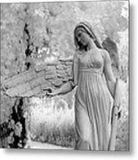 Surreal Dreamy Fantasy Infrared Angel Nature Metal Print