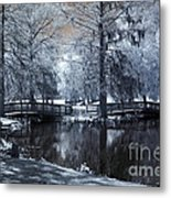 Surreal Dreamy Fantasy Nature Infrared Landscape - Edisto Park South Carolina Metal Print