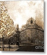 Surreal Fantasy Haunting Gate With Sparkling Tree Metal Print