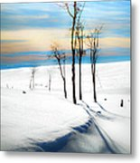 Surreal Snowscape Metal Print
