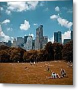 Surreal Summer Day In Central Park Metal Print