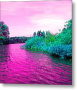 Surrreal Pink Waters Metal Print