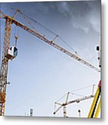 Surveying Instrument For Construction Industry Metal Print by Christian Lagereek