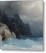 Survivors Of A Shipwreck On A Rocky Path  Metal Print
