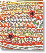 Sushi In Abstract Metal Print