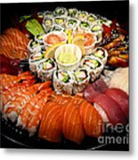 Sushi Party Tray Metal Print