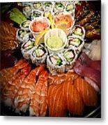 Sushi Tray Metal Print
