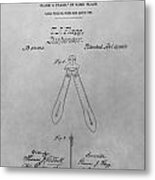 Suspender Patent Drawing Metal Print