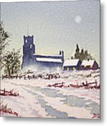 Suzan's Church Painting  Metal Print