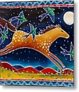 Swallows And The Midnight Mustang Metal Print