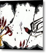 Swallows With Lilies No. 5 Metal Print