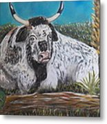 Swamp Bull Metal Print by Richard Goohs