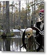 Swamp Pirate Metal Print