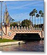 Swan And Dolphin Resort Bridge Metal Print